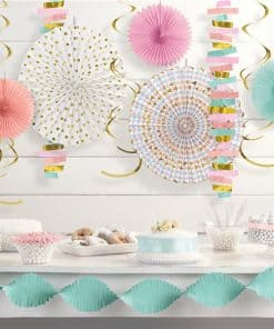Pastel Paper and Foil Hanging Decorations