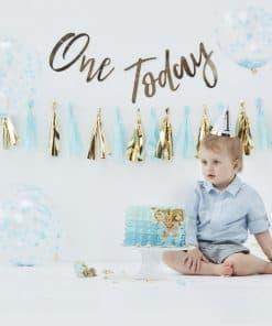 Pick & Mix Pastel Blue 1st Birthday Cake Smash Kit