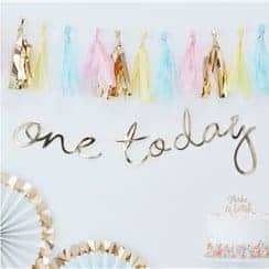 Pick & Mix Pastel Gold 'One Today' Banner