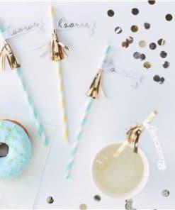 Pick & Mix Pastel 'Hooray' Tassel Paper Straws
