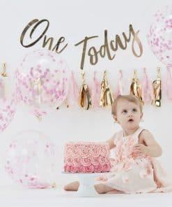 Pick & Mix Pastel Pink 1st Birthday Cake Smash Kit