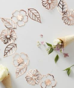 Ditsy Floral Rose Gold Foiled Flower Garland