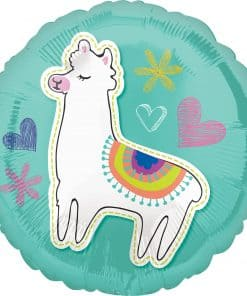 Selfie Celebration Party Llama Foil Balloon