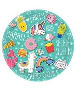 Selfie Celebration Party Paper Plates