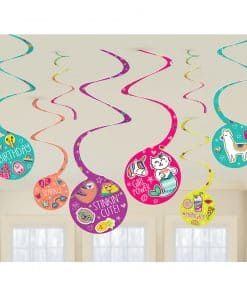 Selfie Celebration Party Hanging Swirls