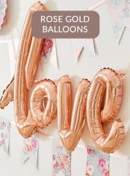BUY ROSE GOLD BALLOONS IN STOCK HIGH QUALITY