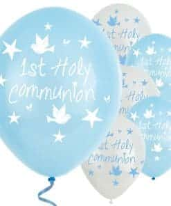 Blue First Holy Communion Balloons
