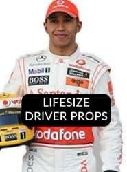 Buy Racing Drivers Lifesize Cardboard Cutouts Props
