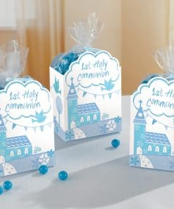 Communion Church Blue Favour Boxes