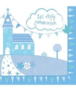Communion Church Blue Lincheon Napkins