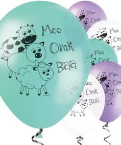 Farmyard Party Printed Latex Balloons