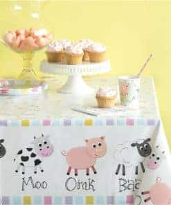 Farmyard Party Plastic Tablecover