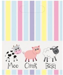Farmyard Party Plastic Party Bags