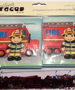 Fire Engine Chubby Thank You Cards