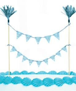 First Holy Communion Party Blue Cake Pick Topper