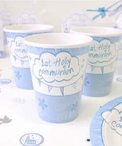 First Holy Communion Party Blue Cups