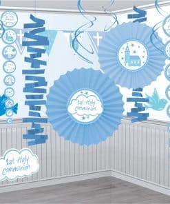 First Holy Communion Party Blue Decoration Kit