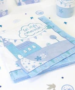 First Holy Communion Party Blue Napkins