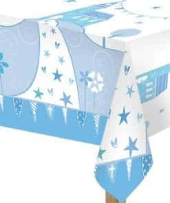 First Holy Communion Party Blue Plastic Tablecover