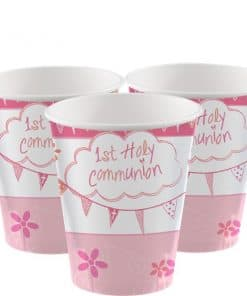 First Holy Communion Pink Party Cups
