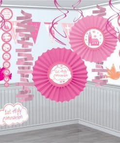 First Holy Communion Pink Party Decoration Kit