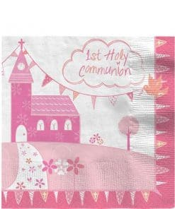 First Holy Communion Pink Party Napkins