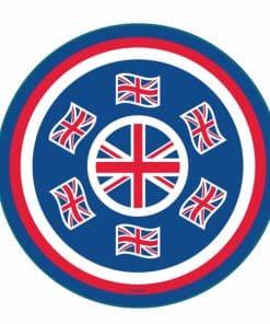 Union Jack Round Platter