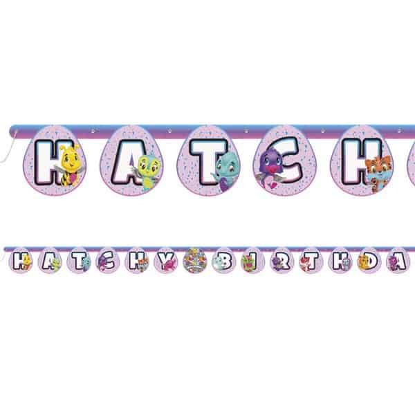 Hatchimals Party Happy Birthday Banner