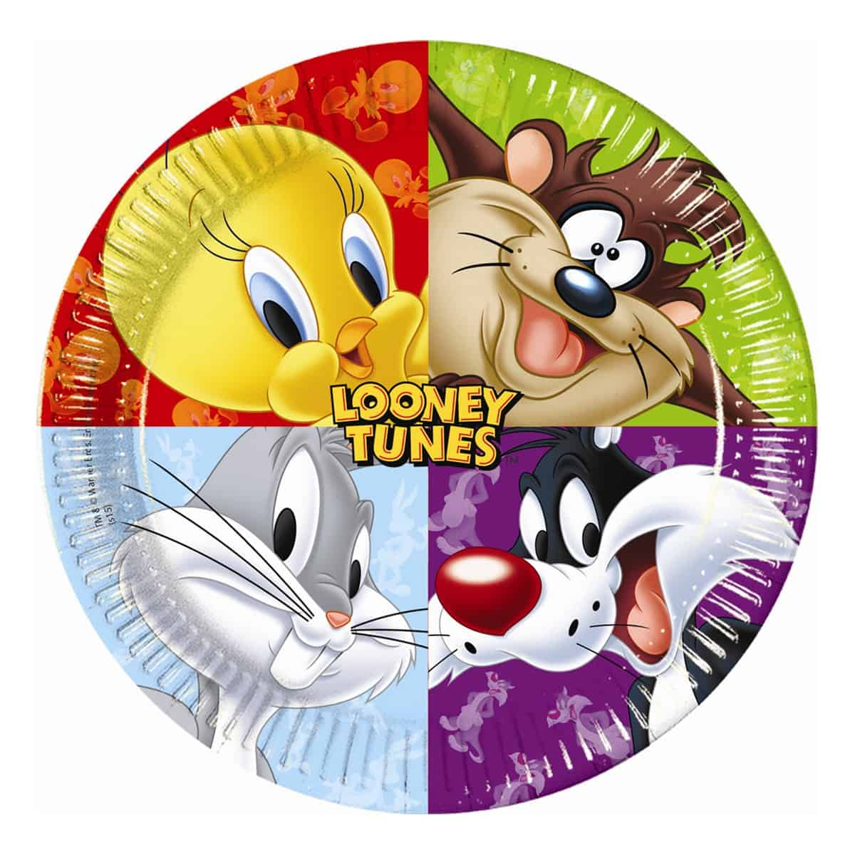 070bf2414bd9 Looney Tunes Party Paper Plates - Fun Party Supplies