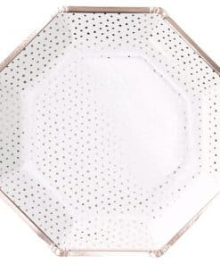 Pick & Mix Rose Gold Spotty Paper Plates