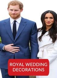 ROYAL WEDDING DECORATIONS, PRINCE HARRY & MEGHAN MARKEL WEDDING NOVELTIES & WAVING FLAGS
