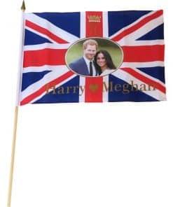 Royal Wedding Harry & Meghan Waving Flag