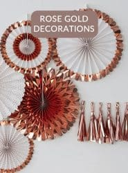 SEE ALL ROSE GOLD DECORATIONS, BUNTING & BANNERS