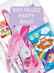 SEE UNICORN THEMED FILLED PARTY BAGS