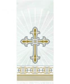 Silver & Gold Radiant Cross Party Cello Party Bags