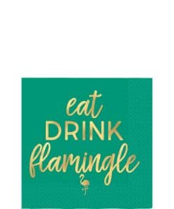 Aloha Summer Flamingle Paper Cocktail Napkins