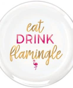 Aloha Summer Flamingle Plastic Serving Platter