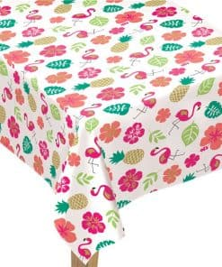 Aloha Summer Flamingo & Pineapple Tablecover