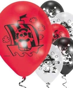 Captain Pirate Party Printed Latex Balloons