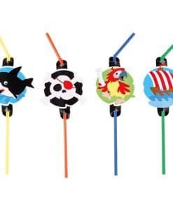 Captain Pirate Party Drinking Straws