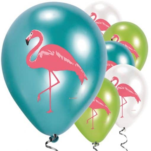 Flamingo Paradise Party Printed Flamingo Latex Balloons