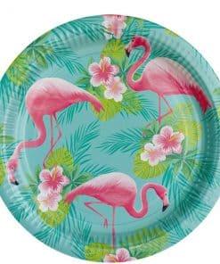 Flamingo Paradise Party Plates