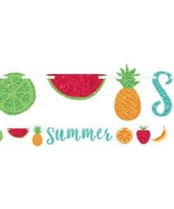 Fruit Salad Glitter Summer Letter Banner