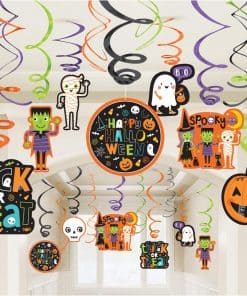 Hallo-ween Friends Party Hanging Swirls