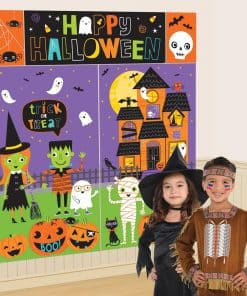 Hallo-ween Friends Party Wall Decoration Kit