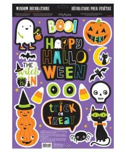 Hallo-ween Friends Party Window Glitter Decoration