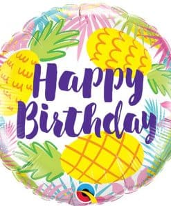 Happy Birthday Pineapples Foil Balloon