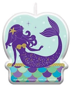 Mermaid Wishes Party Cake Candle