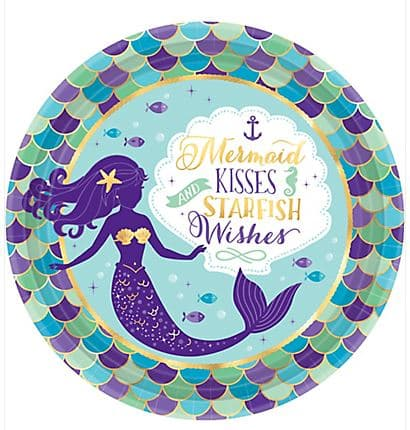 Mermaid Wishes Lunch Plate