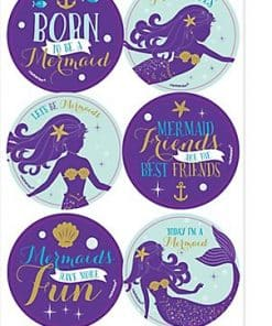 Mermaid Wishes Party Temporary Tattoos